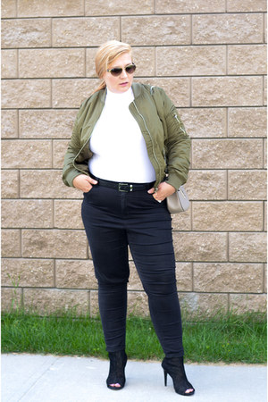 Topshop jacket - Addition Elle jeans - Chloe bag - Simons bodysuit