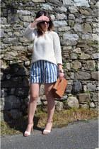 violet Zara shorts - eggshell jumper