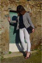 Camaïeu jacket - Zara heels - H&M pants