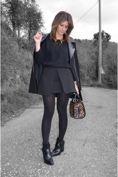Zara skirt - camaieu coat