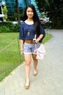 Navy-navy-blue-shirt-from-hongkong-shirt-light-pink-pink-bag-from-rockwell-bag