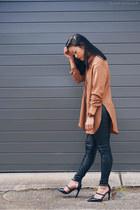 orange shirt fate shirt - black pants Asilio pants - dark brown watch JORD watch