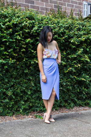 periwinkle top St Frock top - light purple skirt asos skirt