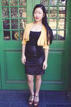 mustard crop jacket Max & Co jacket - black skirt hunt no more skirt
