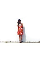 black bralet cotton on bra - red dress romwe dress