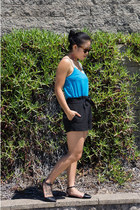 black shorts asos shorts - tawny sunglasses Royal Aquamarine sunglasses