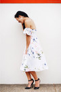 White-dress-alannah-hill-dress-black-heels-asos-heels