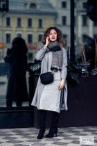 black DressLink shoes - silver shein dress - heather gray Newdress coat