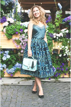 turquoise blue intimissimi top