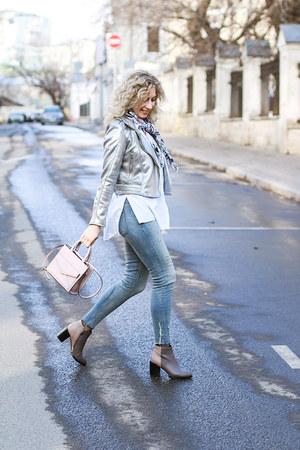 silver Zara jacket