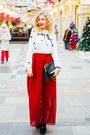 Ivory-zara-blouse-red-chicwish-skirt