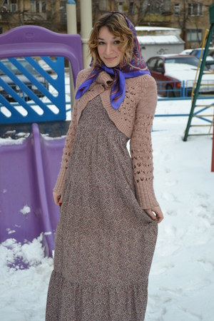 dress - Mango sweater - vintage scarf
