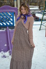 Dress-mango-sweater-vintage-scarf