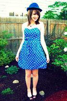 Forever 21 hat - vintage necklace - Target dress