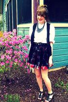thrifted blouse - Forever 21 skirt
