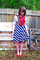 Ralph Lauren dress - thrifted scarf - Calico shoes - dads shirt - Old Navy sungl
