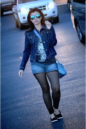Target shoes - New York & Company jacket - Guess shorts - Rue 21 t-shirt