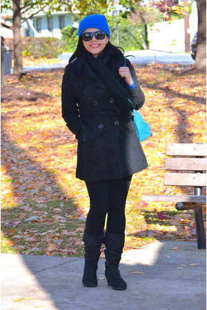 bubble gum sears jacket - Shoedazzle boots - New York and Company bag