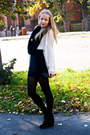 Black-vero-moda-scarf-black-h-m-skirt-cream-zara-cardigan