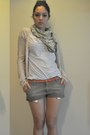Olive-green-rams-23-scarf-dark-khaki-carhartt-shorts-light-blue-zara-t-shirt