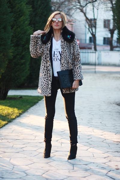 Alexander Wang blazer - H&M boots - allsaints jeans - vintage jacket