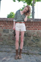 dark khaki menswear Jack n Jones shirt - light brown Senze boots