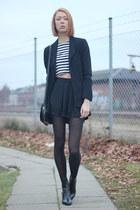 black Zara boots - black Zara top