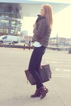 light brown Zara jacket