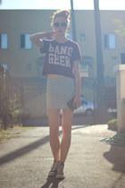 heather gray tube H&M skirt - heather gray thrifted sunglasses
