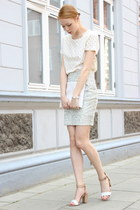 off white dotted merona t-shirt - neutral silence and noise skirt