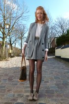 heather gray Minimum blazer - heather gray studded Urban Outfitters skirt