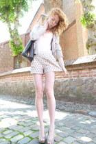 ivory flower vintage shorts