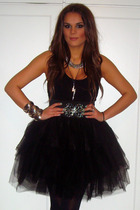 black Tulle skirt - silver accessories