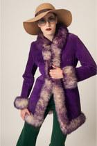 purple SoLovesVintage coat - tan SoLovesVintage sunglasses