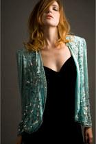 turquoise blue vintage jacket SoLovesVintage blazer