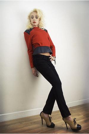SoLovesVintage blouse - black jbrand jeans JBrand jeans