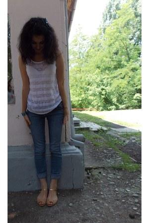 Bershka top - BLANCO jeans