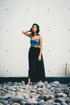knit crop top American Apparel top - chiffon American Apparel skirt
