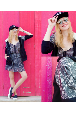 black SIMILAR dress - black state of wow hat - heather gray Wolfnoir sunglasses