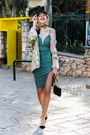 Green-trend-director-dress-black-state-of-wow-cap-hat
