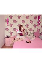 light pink Bershka jacket - beige AmiClubWear shoes - maroon Tally Weijl blouse
