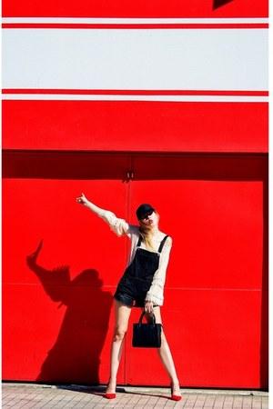 beige Forever 21 dress - black NEW DRESS Cap hat - black Forever 21 bag