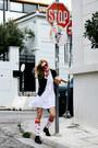 Black-lynne-jacket-white-lynne-shirt-red-samson-hosiery-socks