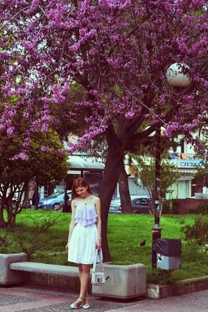 periwinkle H&M bag - white Atmosphere skirt - light blue Stradivarius heels