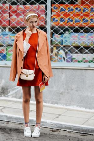 orange LETTER NOTE Notecard wallet - carrot orange BAZZR dress