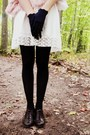 Ivory-forever-21-dress-black-unknown-brand-tights