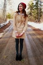black Target boots - eggshell Erin Fetherston for Target dress
