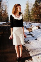 handmade scarf - Old Navy skirt - Old Navy top - Mossimo heels