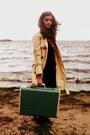 Target-dress-trench-tulle-coat-vintage-scarf-suitcase-vintage-bag