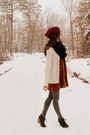 Burnt-orange-family-affairs-dress-brick-red-handmade-hat